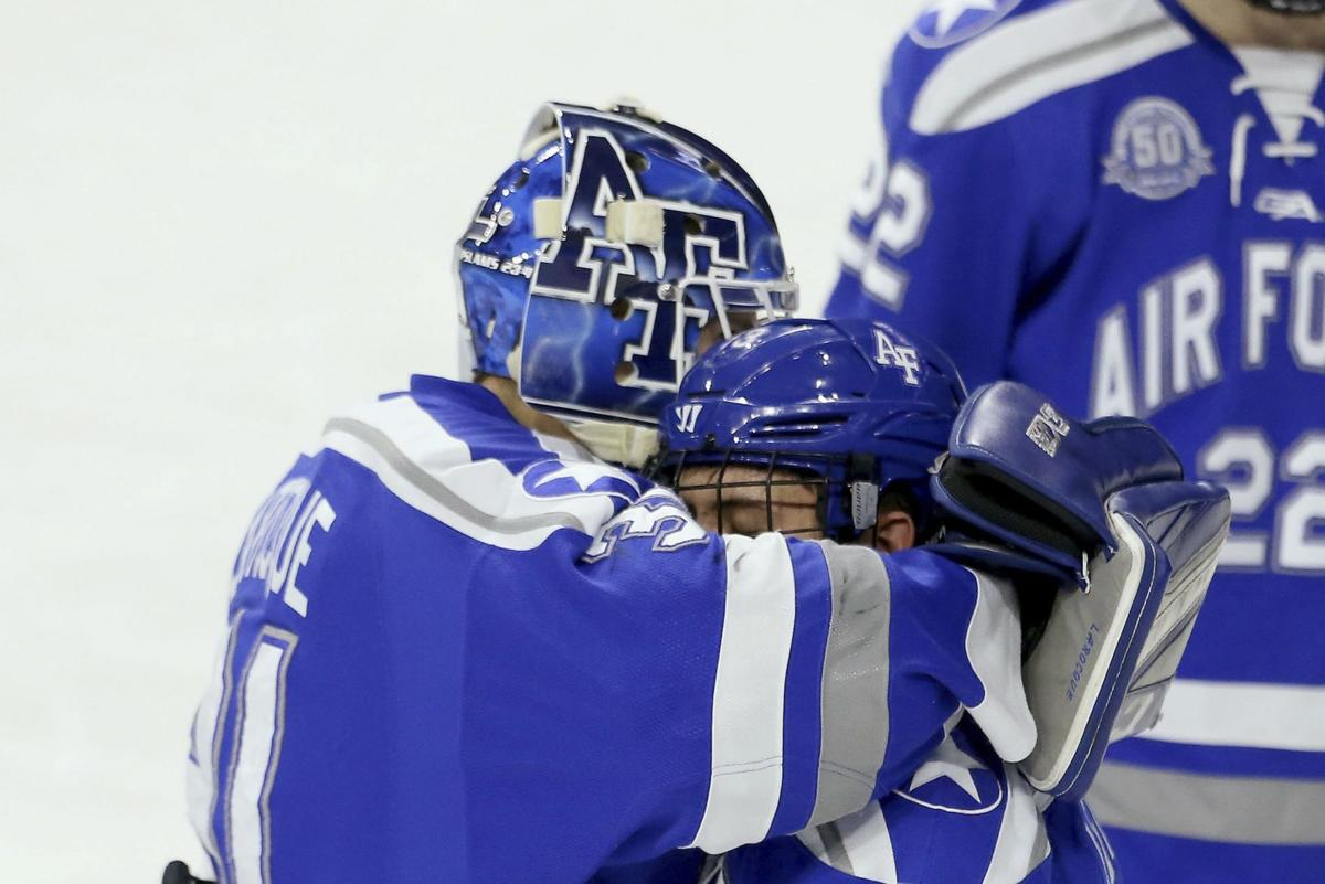 Mixed emotions after dramatic final weekend for Air Force hockey ... dd46e4fed72