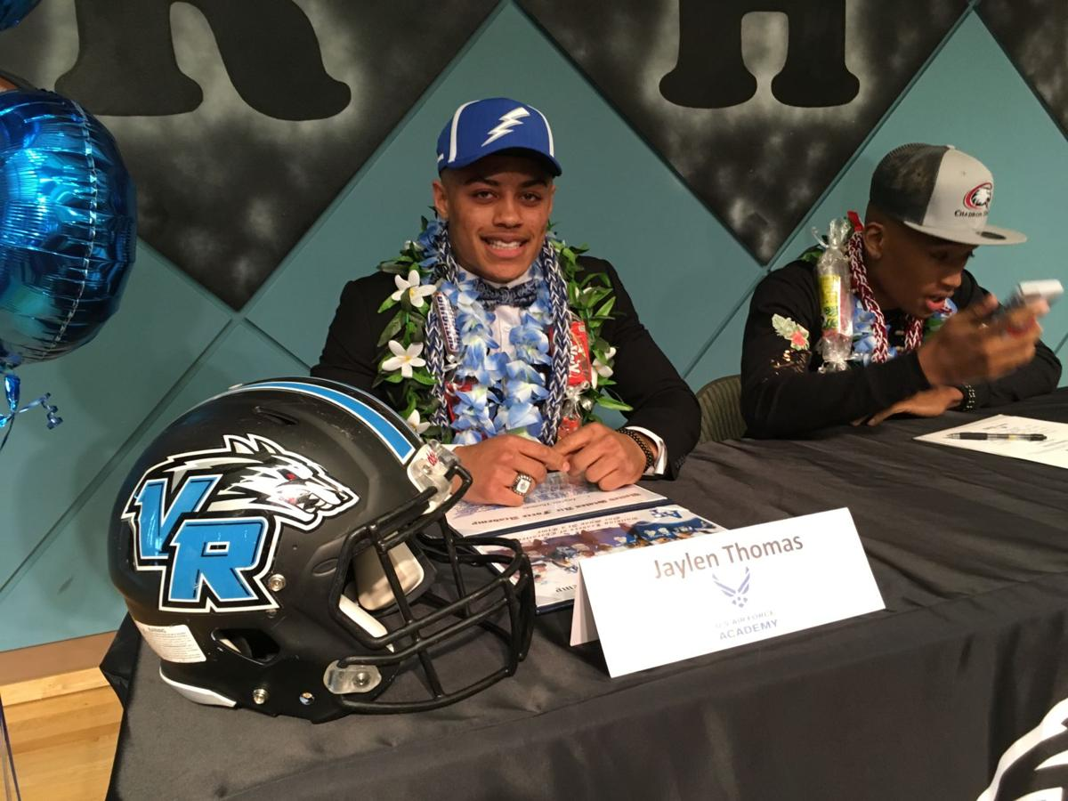 Signing day notes: Vista Ridge's Jaylen Thomas is lone local football player headed to Air Force