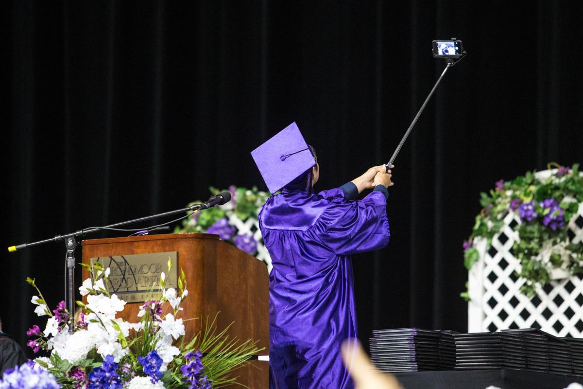 Graduation exercises for Mesa Ridge High School were held on Monday, May 18, 2015 at the Broadmoor World Arena. Photo by Isaiah J. Downing
