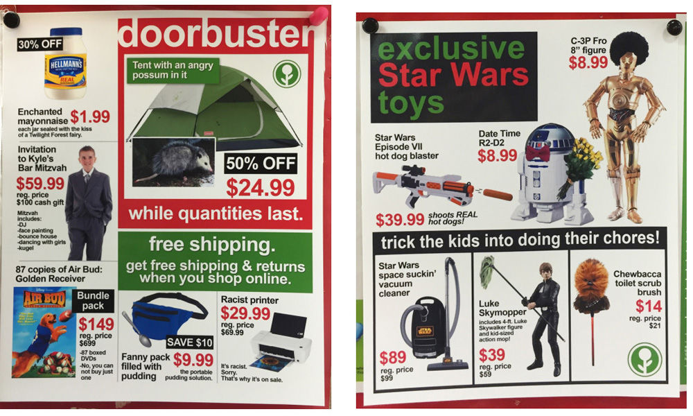 Man Plants Hilarious Fake Black Friday Sale Ads At Target Colorado Springs News Gazette Com