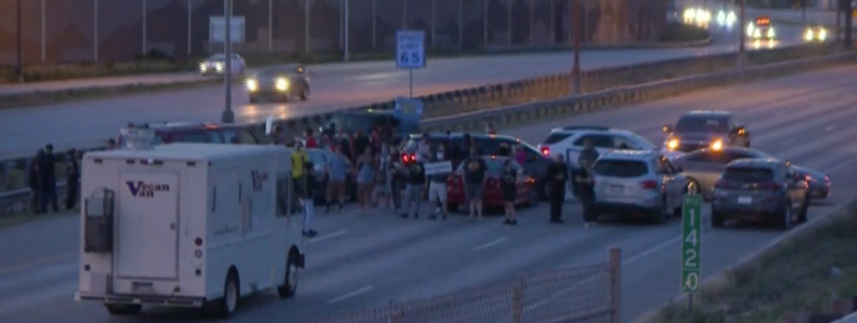 Colorado Springs protesters block part of Interstate 25 near downtown