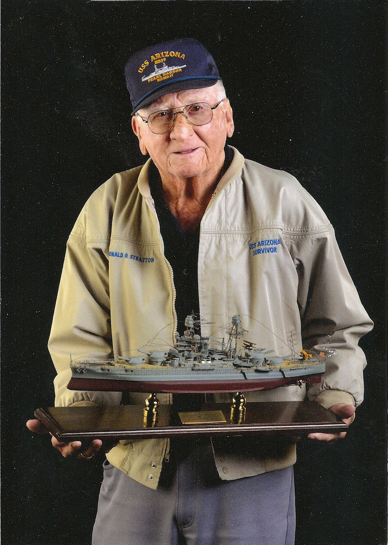 USS Arizona exhibit commissioned at COS Airport, honors survivor Don Stratton
