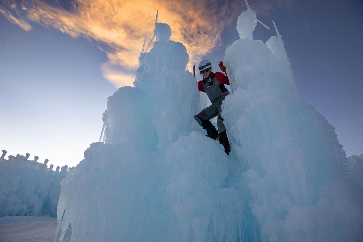 Dillon Ice Castles taking shape, ice wonderland returns