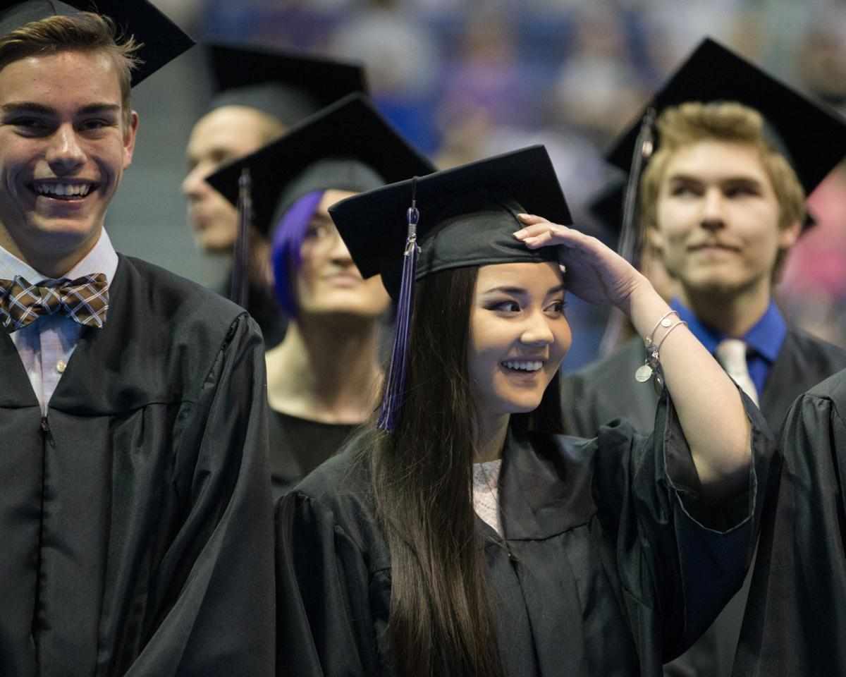 The Class of 2016 graduates from Discovery Canyon High School in a commencement ceremony at the Air Force Academy's Clune Arena in Colorado Springs, Colo. on Thursday, May 19, 2016. (photo by Liz Copan/The Gazette)
