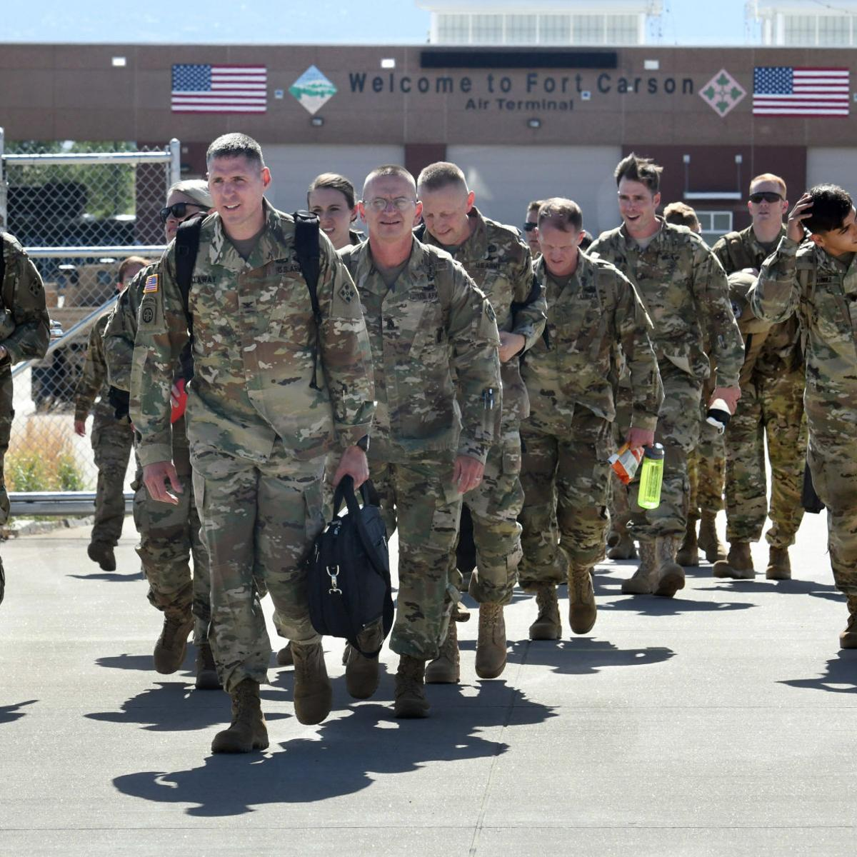 Soldiers from Fort Carson's 4th Combat Aviation Brigade