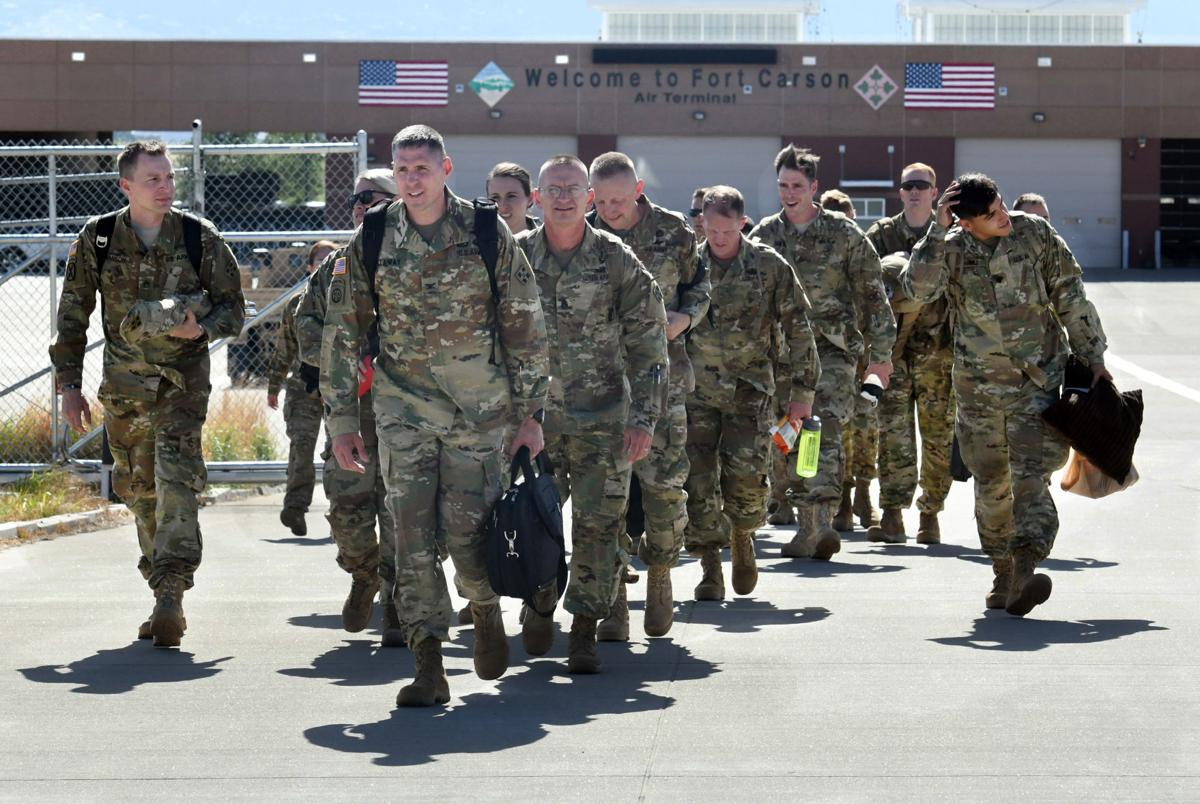 Soldiers from Fort Carson's 4th Combat Aviation Brigade deploy to Europe