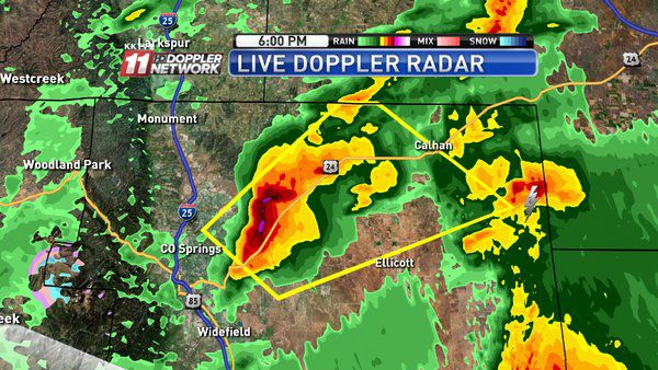 Severe thunderstorm warning in place for eastern Colorado