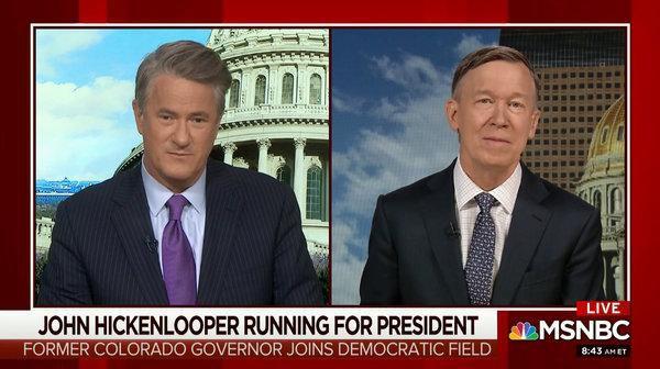 Hickenlooper on MSNBC