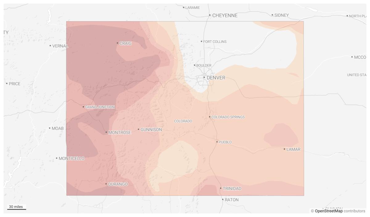 Colorado drought map May 11, 2021
