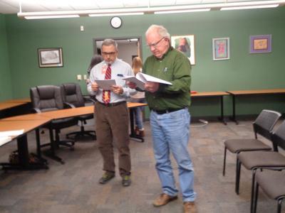 Cripple Creek/Victor School Board members Dennis Jones Tim Braun
