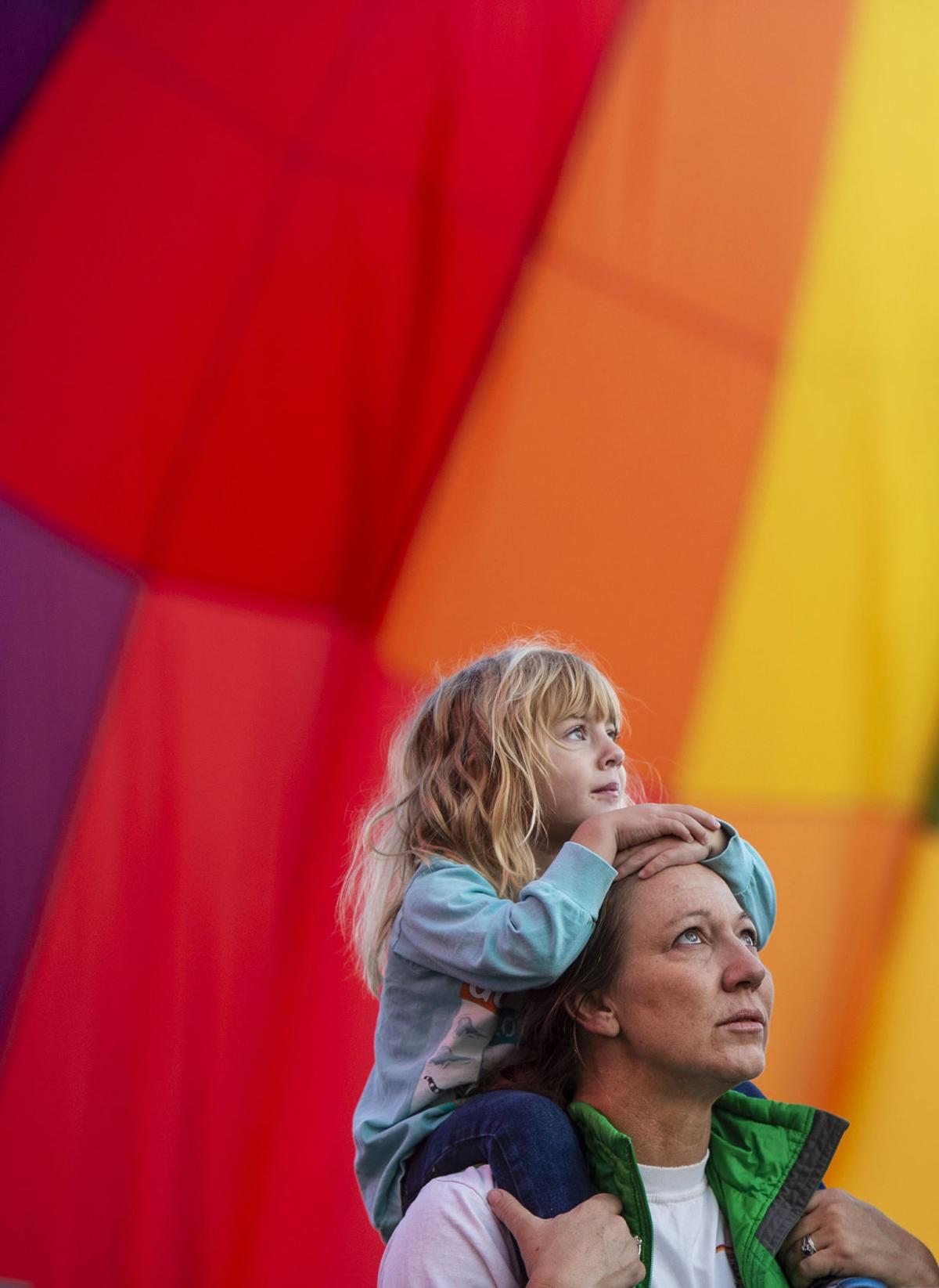 Up, up and away: Hot air balloons pepper Colorado Springs skyline for Labor Day weekend liftoff event
