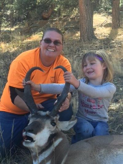 APRIL ACHORD AND MINA WITH ANTELOPE.JPG