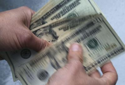 Stack of dollar bills(copy)