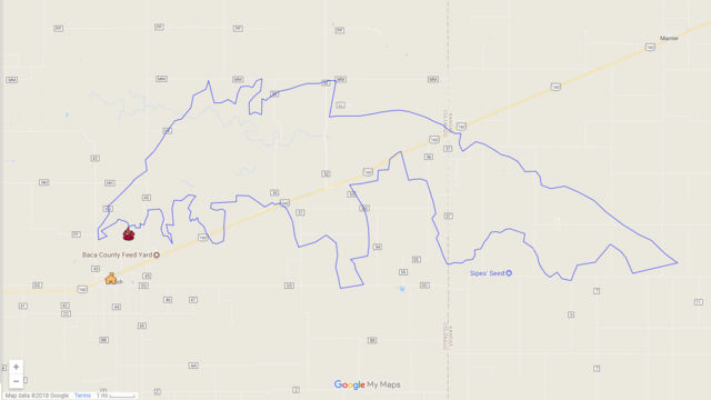 Large Wildfire Map.Large Wildfire In Southeast Colorado Spreads Into Kansas Colorado