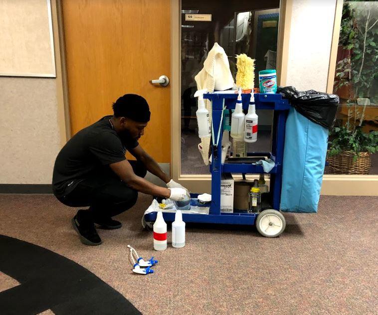 LPSD custodial staff works hard to keep schools sanitized