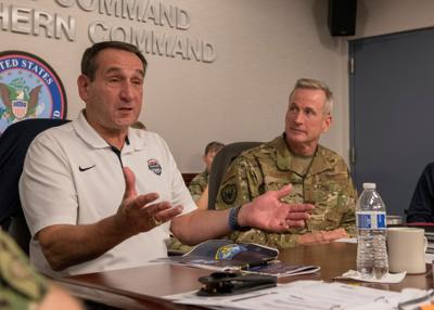 Coach K at U.S. Northern Command
