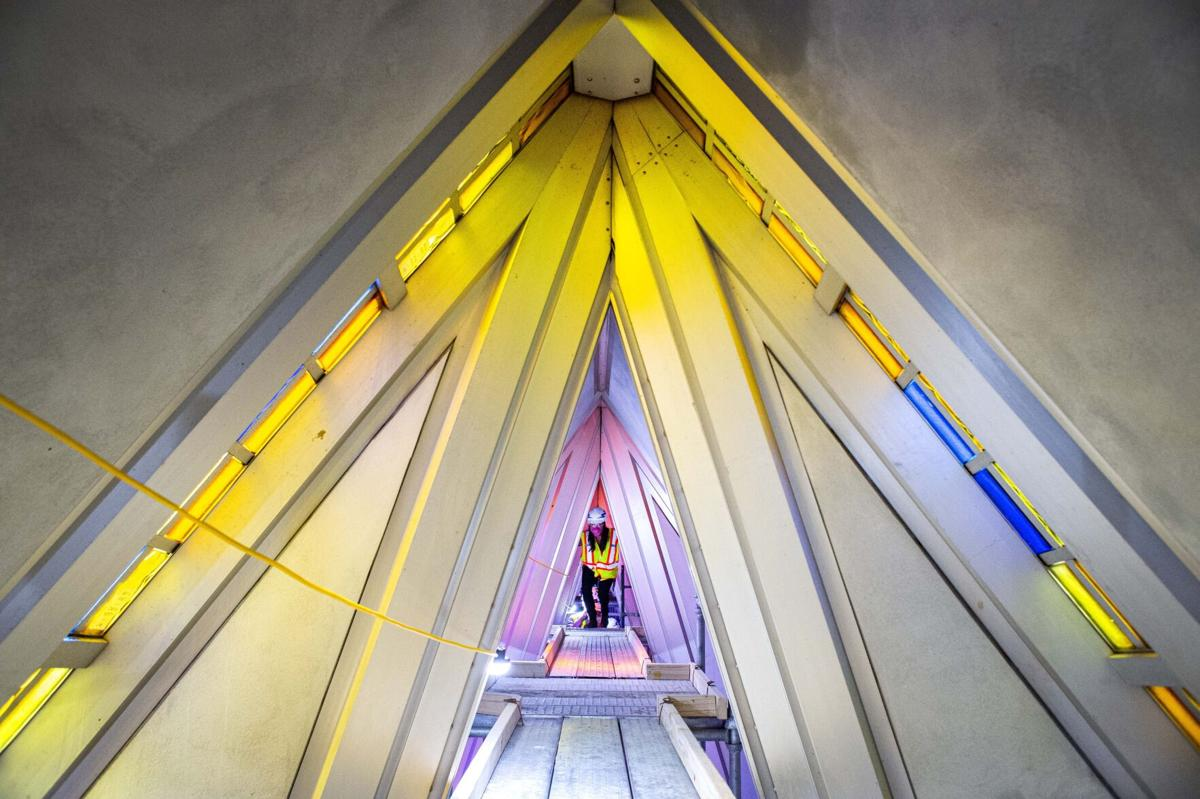 Air Force Academy Cadet Chapel restoration takes shape