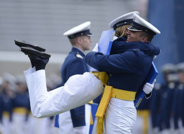 The Air Force Academy's 57th graduation ceremony was held Thursday, May 28, 2015 at Falcon Stadium. (The Gazette)