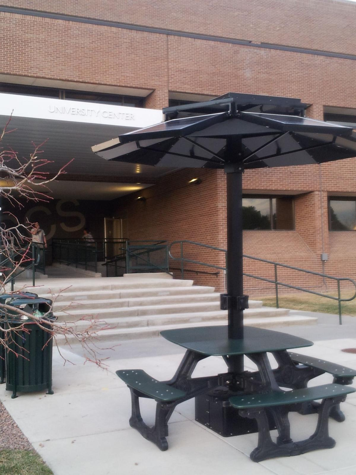 UCCS Gets Solarpowered Picnic Table Charging Stations Colorado - Solar picnic table