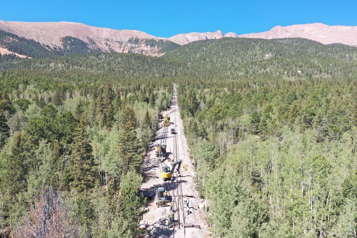 Pikes Peak Cog Railway construction - halfway point