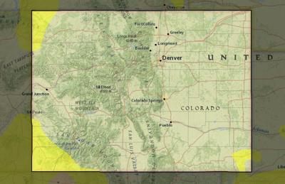 Map shows Colorado's drought status as of Aug. 13.
