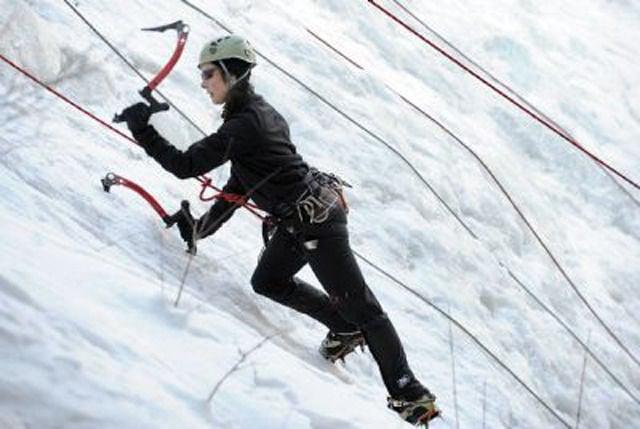 Local waterfall becoming a regional ice climbing destination
