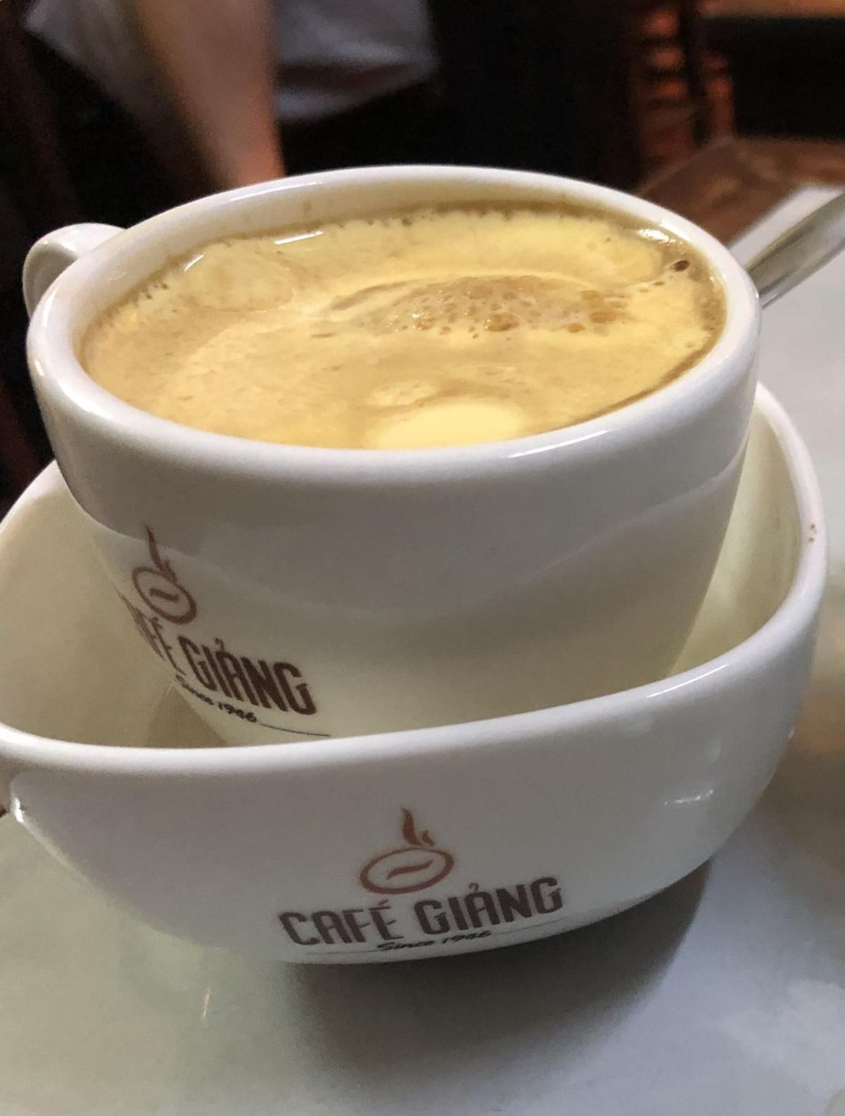 Hanio's signature egg coffee a unique taste experience on foodie tor in Vietnam