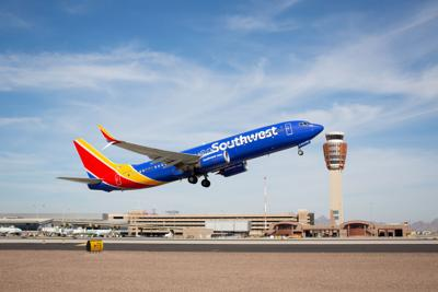 Southwest Airlines aircraft takes off