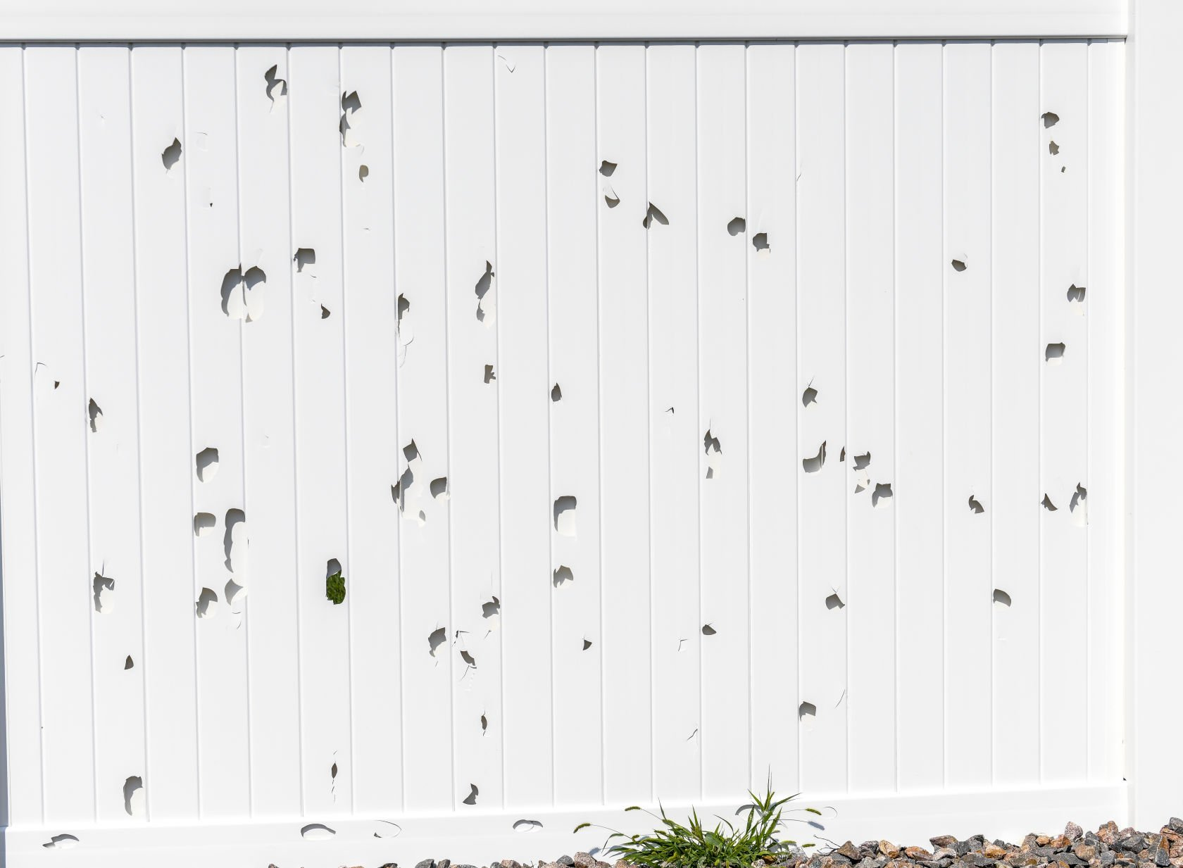 Many homeowners rocked by hail Monday were still