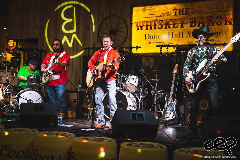 Tri-Lakes area band Latigo performing at Ugly Sweater Country Christmas Party fundraiser at The Whiskey Baron