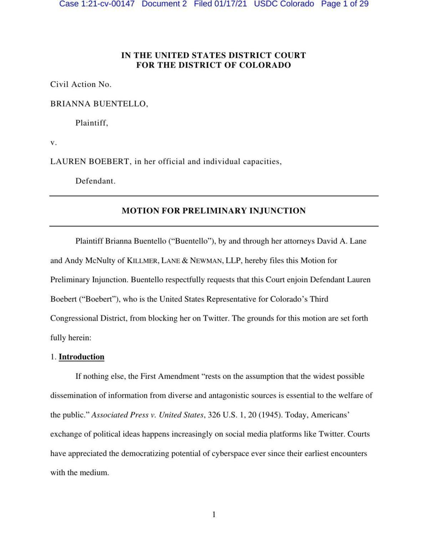 Boebert injunction