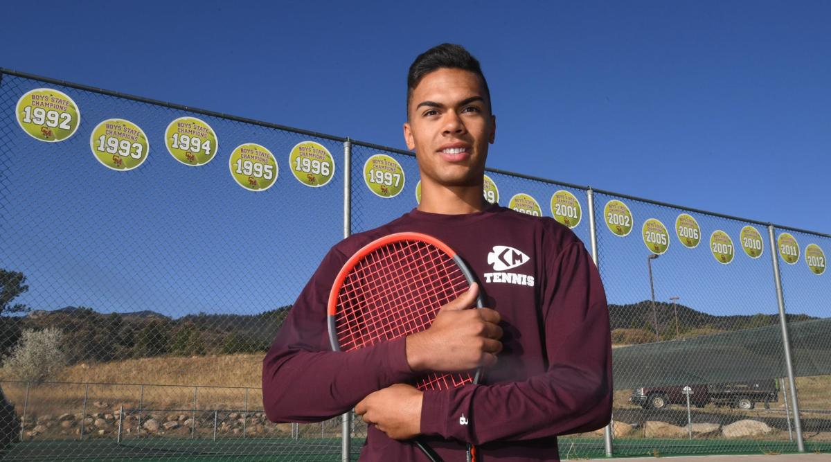 Cheyenne Mountain senior boys' tennis player Paul Jones