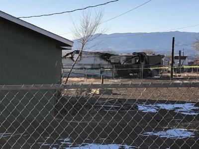 A mobile home caught fire early Wednesday in Canon City