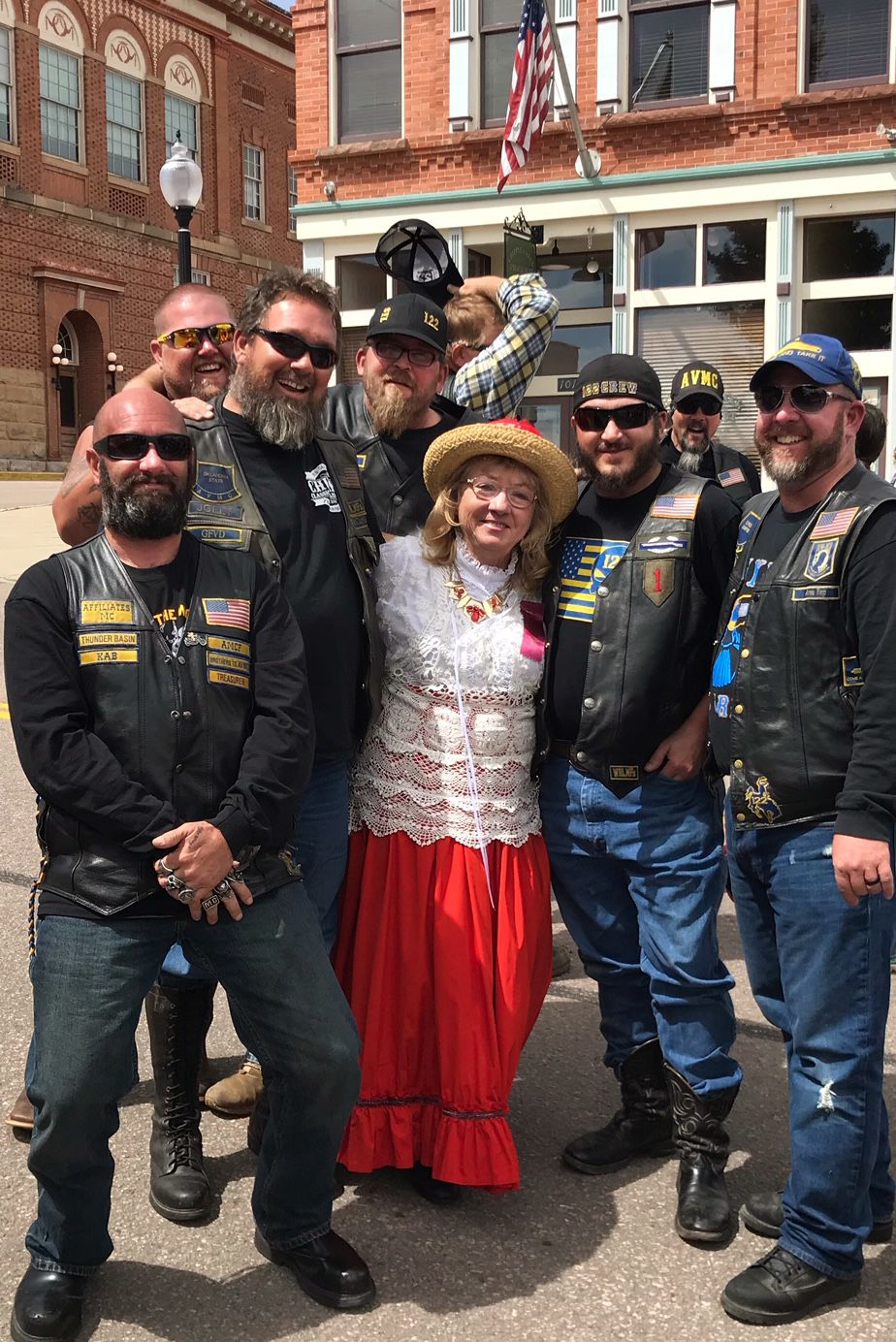 Kathy Collins and veterans