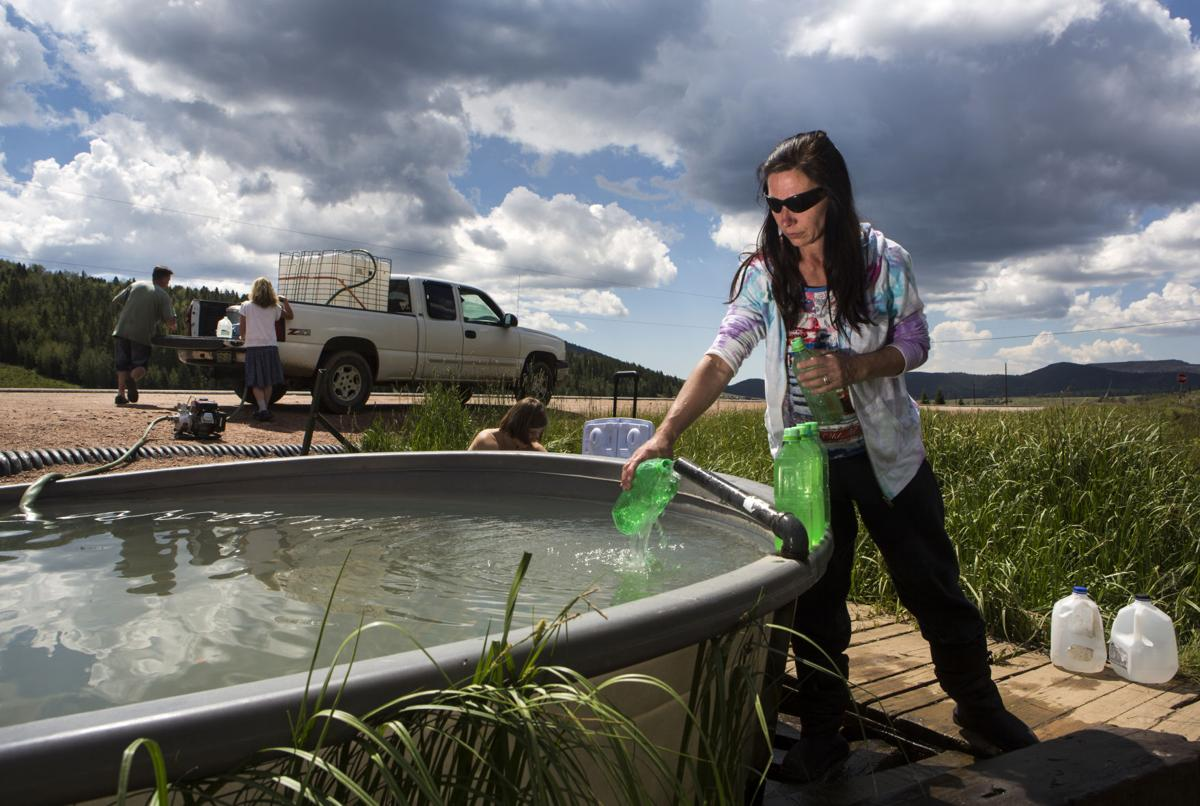 A mystery spring in Teller County provides water source for residents, passers-by