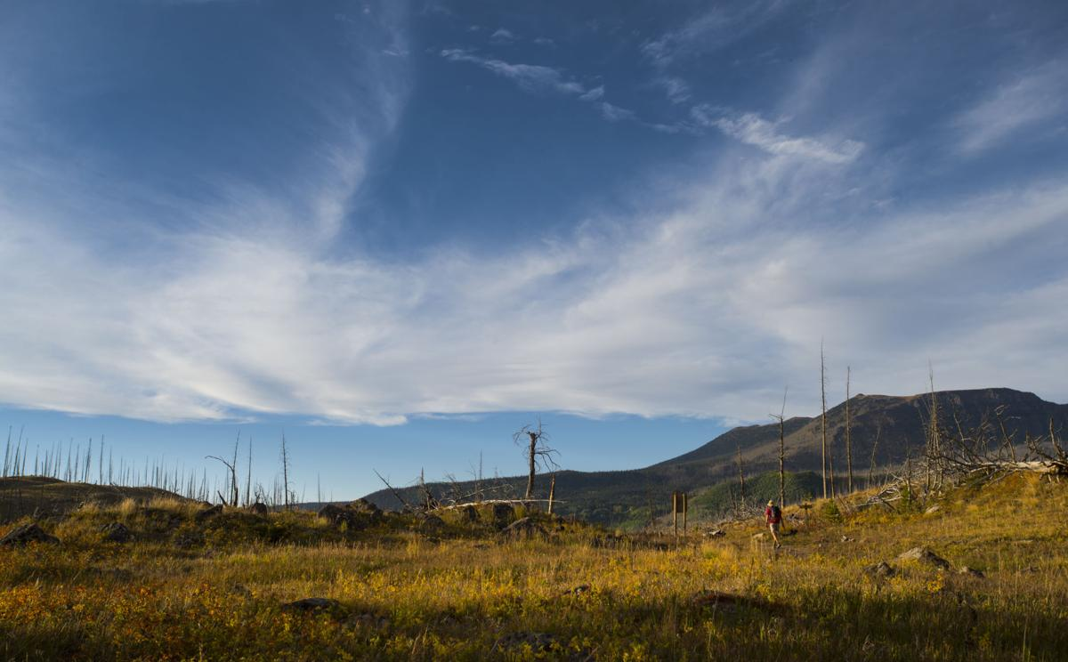 A hikers leaves the Flat Tops Wilderness Area Wednesday, Sept. 7, 2016, near the Trappers Lake Lodge in northwest Colorado. (The Gazette, Christian Murdock)