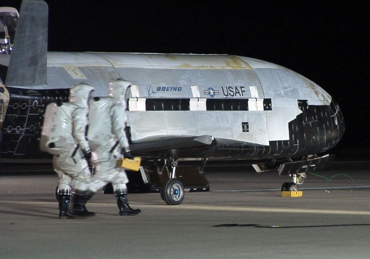 X-37 space drone lands in California