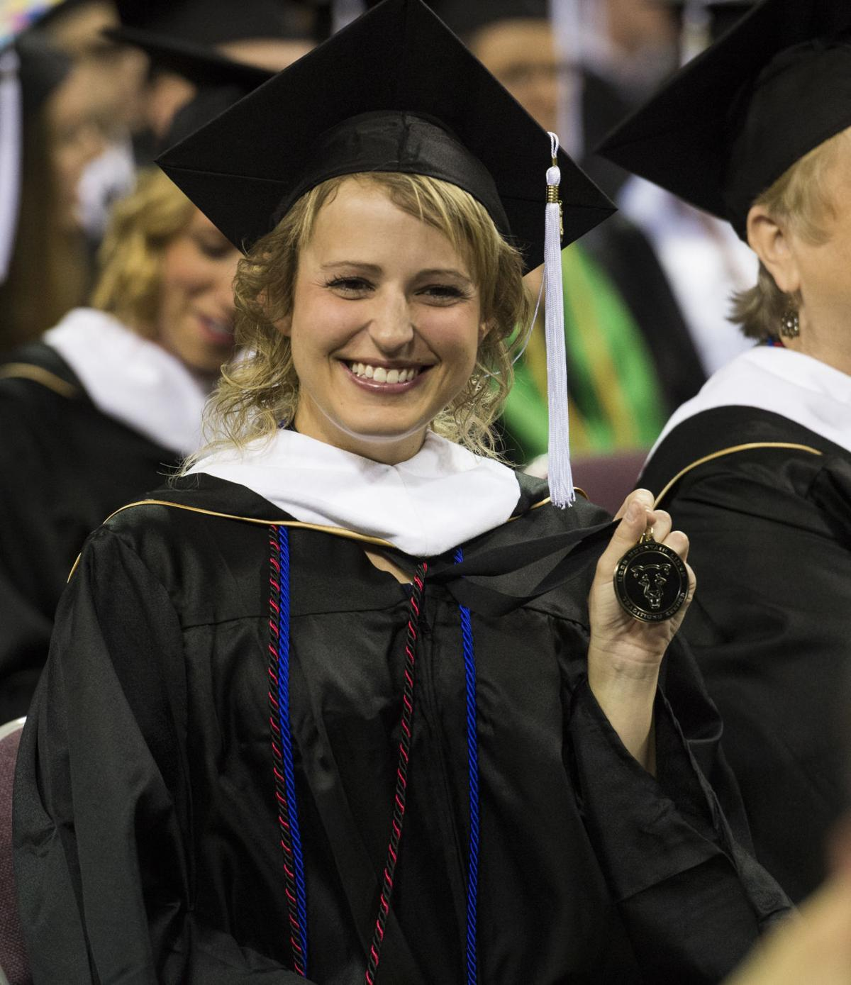 Highlights from the University of Colorado at Colorado Springs' morning commencement ceremonies Friday, May 12, 2017, at the Broadmoor World Arena in Colorado Springs. A record 1,532 students received their degrees this Spring.  (The Gazette, Christian Murdock)