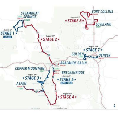 Us Pro Cycling Challenge Route Map USA Pro Challenge cycling routes unveiled with some daunting