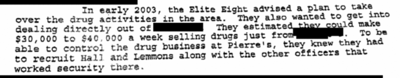 Informant proffer with FBI, federal prosecutor and local investigators on control of drug business at restaurant