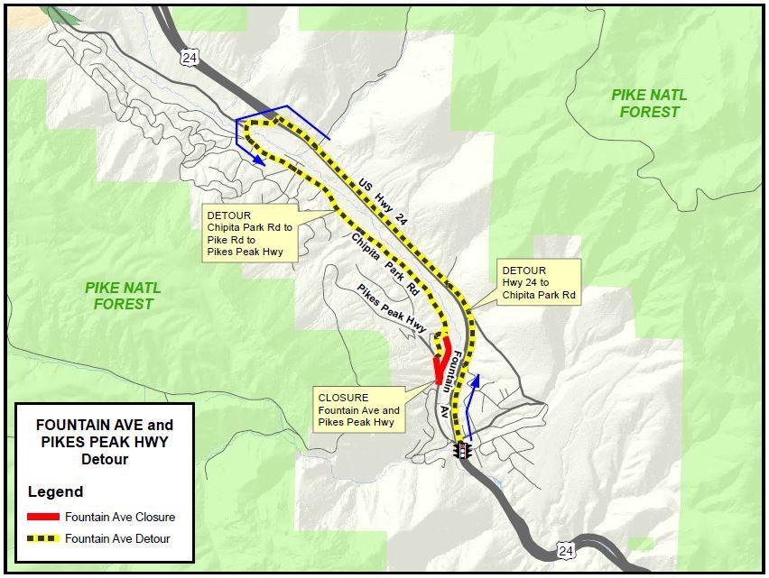 Road closure in Cascade area starts Monday; detour to U.S. 24 ...