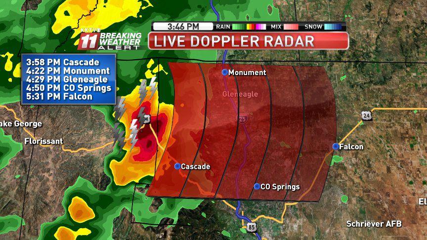 Flash Flood watch in effect for Colorado Springs, El Paso