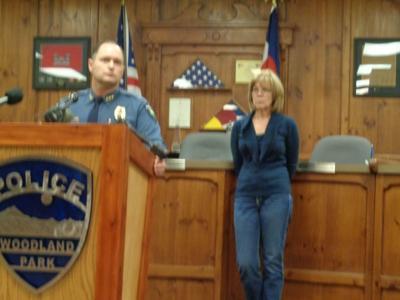 Woodland Park Police Chief Miles DeYoung Cheryl Berreth
