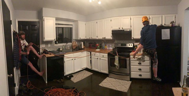 Kitchen climbing
