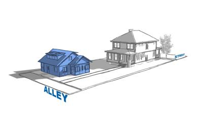 Accessory dwelling unit as a detached cottage