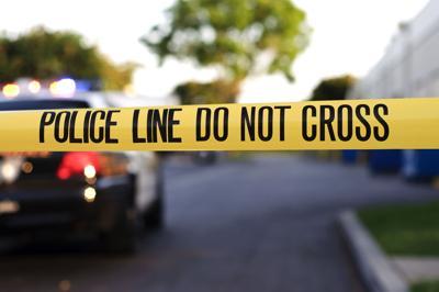 A police crime scene tape close-up