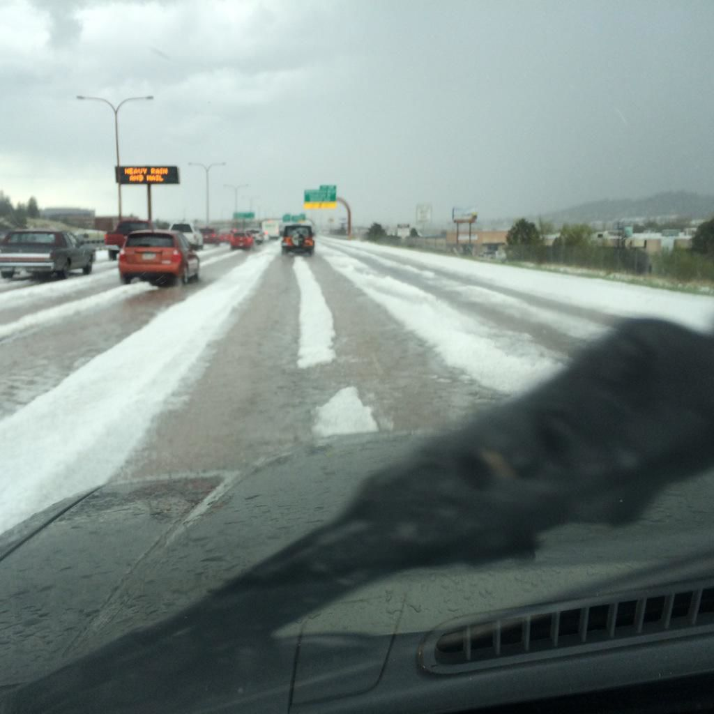 Colorado Weather Colorado Springs Hit Hard By Hail And: Hailstorm Wreaks Havoc On Colorado Springs Roads