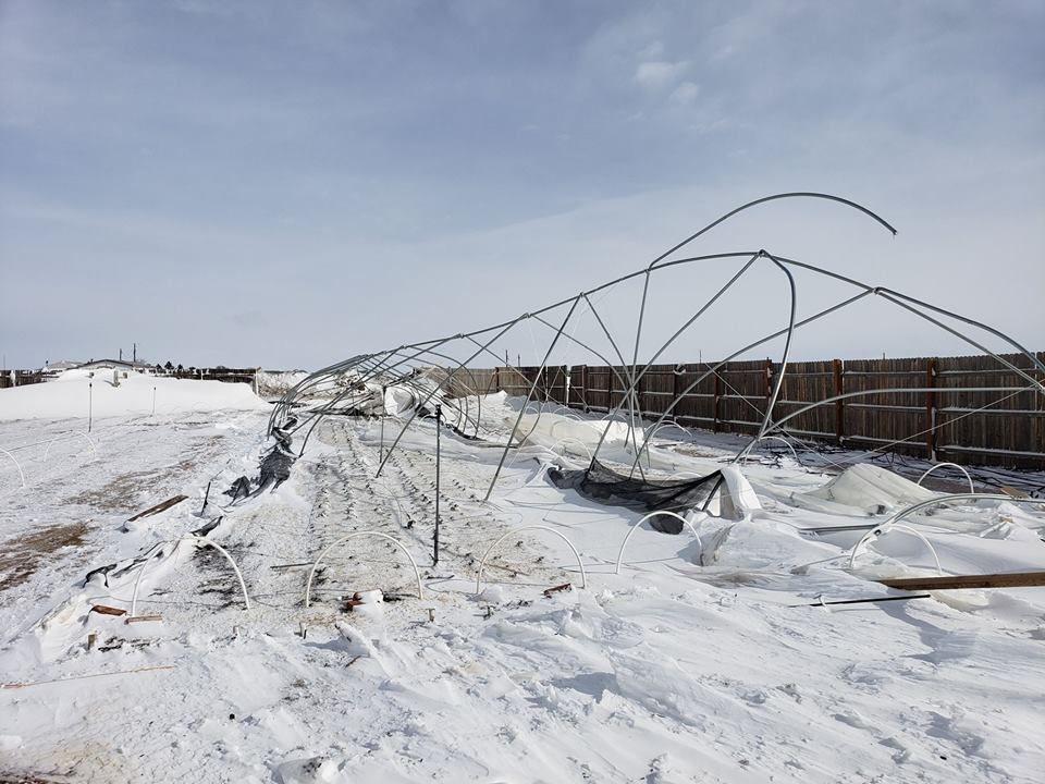 Ahavah Farm damage