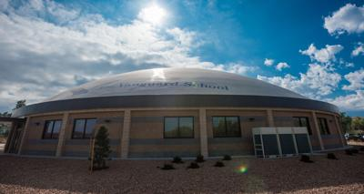 Colorado Springs' newest junior high school sports monolithic dome shape
