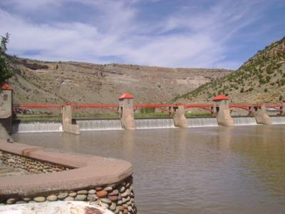 The roller dam on the Colorado